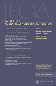 Journal of Financial and Quantitative Analysis Volume 55 - Issue 5 -