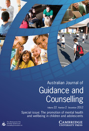 Journal of Psychologists and Counsellors in Schools Volume 22 - Issue 2 -  The promotion of mental health and wellbeing in children and adolescents