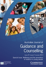 Journal of Psychologists and Counsellors in Schools Volume 23 - Issue 2 -  Wellbeing and the prevention of violence in young people
