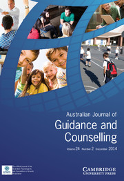 Journal of Psychologists and Counsellors in Schools Volume 24 - Issue 2 -