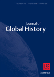Journal of Global History Volume 3 - Issue 3 -