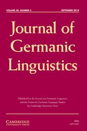 Journal of Germanic Linguistics Volume 30 - Issue 3 -