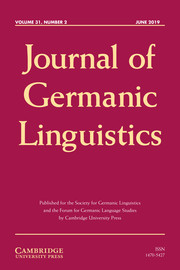 Journal of Germanic Linguistics Volume 31 - Issue 2 -