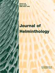 Journal of Helminthology Volume 83 - Issue 1 -
