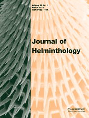 Journal of Helminthology Volume 86 - Issue 1 -