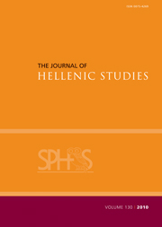 The Journal of Hellenic Studies Volume 130 - Issue  -