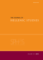 The Journal of Hellenic Studies Volume 131 - Issue  -