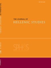 The Journal of Hellenic Studies Volume 137 - Issue  -