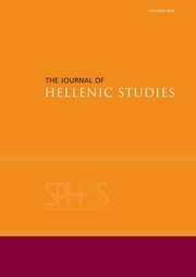 The Journal of Hellenic Studies Volume 139 - Issue  -