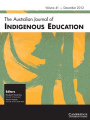 The Australian Journal of Indigenous Education Volume 41 - Issue 2 -