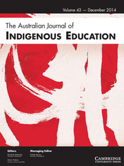 The Australian Journal of Indigenous Education Volume 43 - Issue 2 -