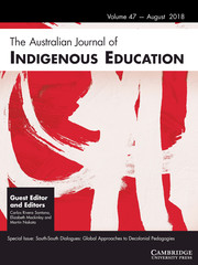 The Australian Journal of Indigenous Education Volume 47 - Special Issue1 -  South-South Dialogues: Global Approaches to Decolonial Pedagogies