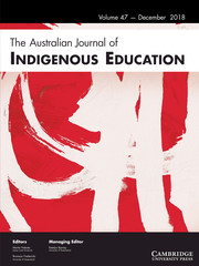 The Australian Journal of Indigenous Education Volume 47 - Issue 2 -