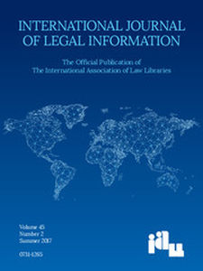 International Journal of Legal Information Volume 45 - Issue 2 -
