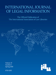 International Journal of Legal Information Volume 47 - Issue 1 -