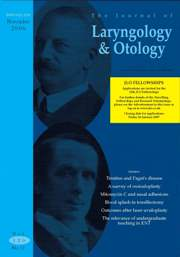 The Journal of Laryngology & Otology Volume 120 - Issue 11 -