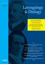 The Journal of Laryngology & Otology Volume 121 - Issue 1 -