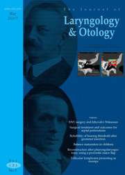 The Journal of Laryngology & Otology Volume 121 - Issue 5 -
