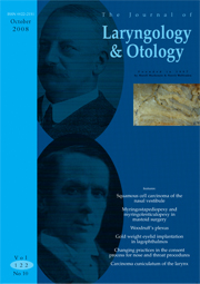 The Journal of Laryngology & Otology Volume 122 - Issue 10 -