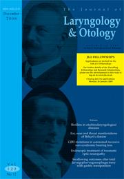 The Journal of Laryngology & Otology Volume 122 - Issue 12 -