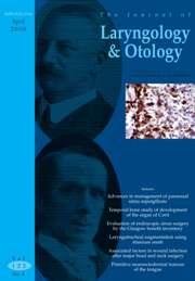The Journal of Laryngology & Otology Volume 122 - Issue 4 -