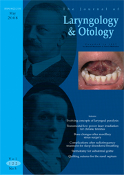 The Journal of Laryngology & Otology Volume 122 - Issue 5 -