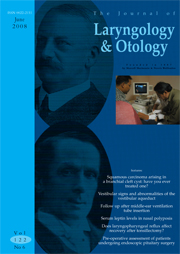 The Journal of Laryngology & Otology Volume 122 - Issue 6 -