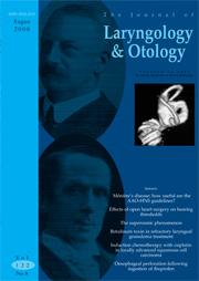 The Journal of Laryngology & Otology Volume 122 - Issue 8 -