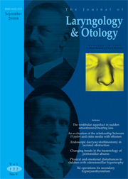 The Journal of Laryngology & Otology Volume 122 - Issue 9 -