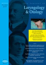 The Journal of Laryngology & Otology Volume 123 - Issue 12 -