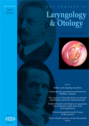 The Journal of Laryngology & Otology Volume 123 - Issue 4 -