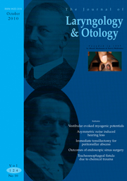 The Journal of Laryngology & Otology Volume 124 - Issue 10 -