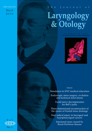 The Journal of Laryngology & Otology Volume 124 - Issue 3 -