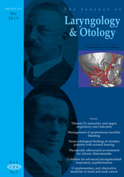 The Journal of Laryngology & Otology Volume 124 - Issue 5 -