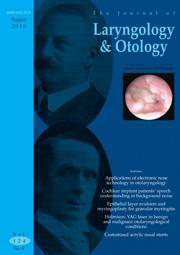 The Journal of Laryngology & Otology Volume 124 - Issue 8 -