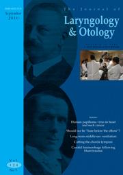 The Journal of Laryngology & Otology Volume 124 - Issue 9 -