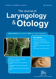 The Journal of Laryngology & Otology Volume 125 - Issue 6 -