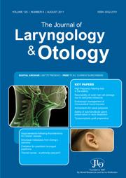 The Journal of Laryngology & Otology Volume 125 - Issue 8 -