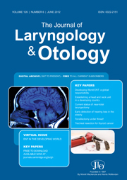 The Journal of Laryngology & Otology Volume 126 - Issue 6 -
