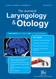 The Journal of Laryngology & Otology Volume 126 - Issue 9 -
