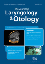 The Journal of Laryngology & Otology Volume 130 - Issue 12 -