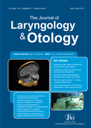 The Journal of Laryngology & Otology Volume 130 - Issue 3 -