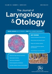 The Journal of Laryngology & Otology Volume 133 - Issue 3 -