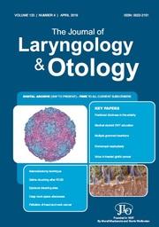 The Journal of Laryngology & Otology Volume 133 - Issue 4 -