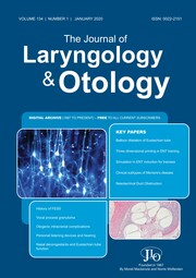 The Journal of Laryngology & Otology Volume 134 - Issue 1 -