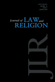 Journal of Law and Religion Volume 33 - Issue 2 -