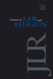 Journal of Law and Religion Volume 35 - Issue 1 -