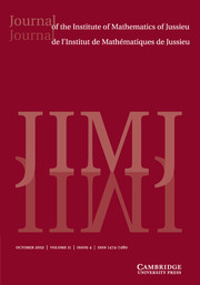 Journal of the Institute of Mathematics of Jussieu Volume 11 - Issue 4 -