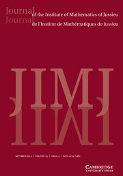 Journal of the Institute of Mathematics of Jussieu Volume 13 - Issue 4 -