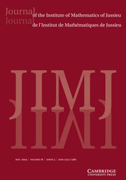 Journal of the Institute of Mathematics of Jussieu Volume 18 - Issue 3 -